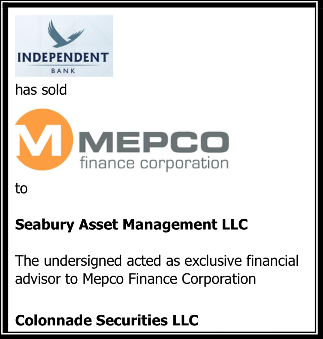 Colonnade Advises Mepco Finance on its Sale to Seabury Asset